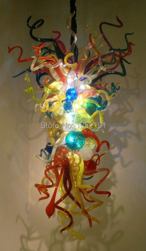 Free Shipping AC LED Hanging Chandelier Color Brilliancy Glass for Lighting