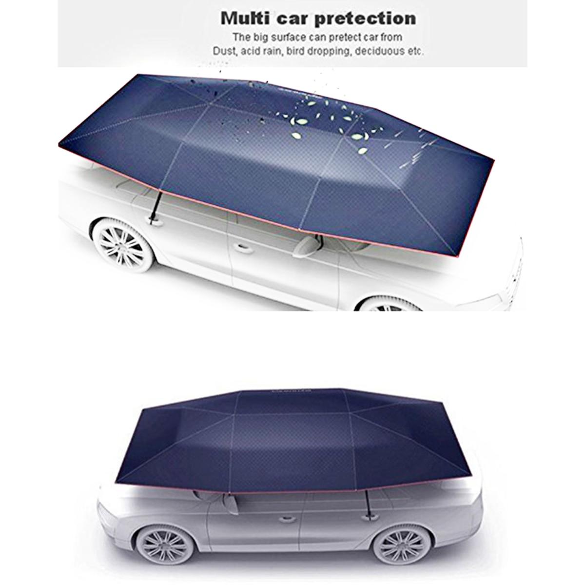 Portable umbrella car roof cover surefire torch