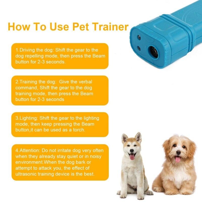 High Quality Ultrasonic Dog Trainer Anti Barking Stop Bark Pet Dog Bark Deterrents Device Trainer Tool pet supplies 2