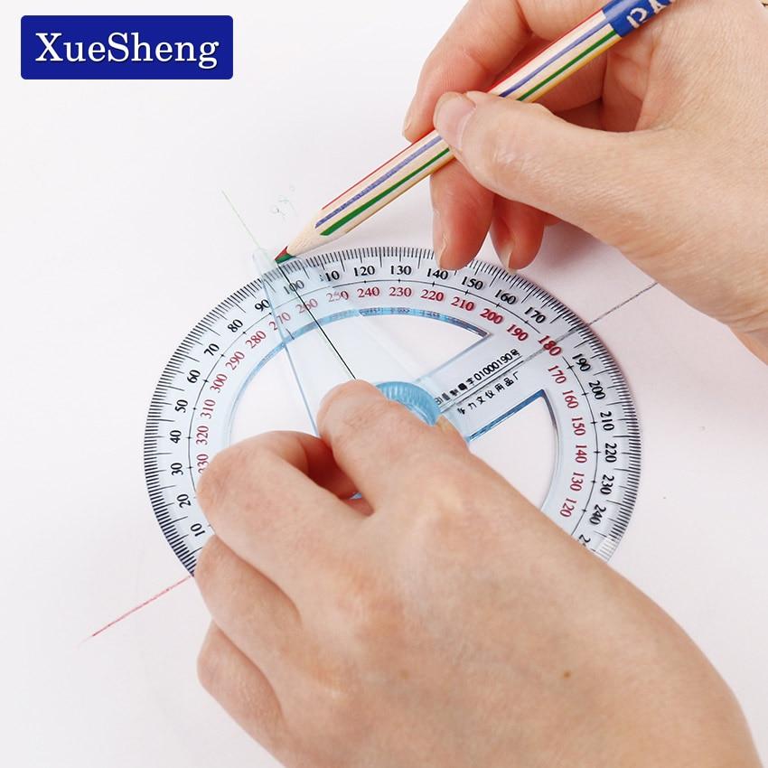 1PC Circular 10cm Transparent Plastic 360 Degree Pointer