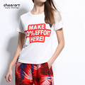 2017 Summer White Print T Shirt Women Fitness Casual Plus Size Women Tops Graphic Tee Shirt Femme Unif Clothing