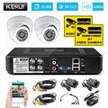 KERUI 4CH домашняя система видеонаблюдения 1200TVL система внутреннего DVR комплект камеры наблюдения система ночного видения приложение монитор к...