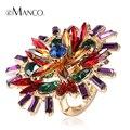 Anillos de diamante de imitación cristal grande flor eManco 2014 nuevo marca elegante para mujer vintage anillos amuleto de aleación de zinc personalizados RG04278