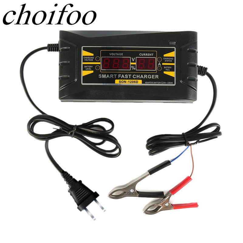 Full Automatic Smart Battery Charger 12V 6A 10A EU/US Maintainer Desulfator for Lead Acid Batteries Car Battery Charger 110-240V ...