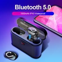 Bluetooth 5.0 TWS Blutooth のイヤホンワイヤレスヘッドフォン電話ハンズフリー用イヤトゥーレワイヤレスステレオヘッドフォン HBQ 32