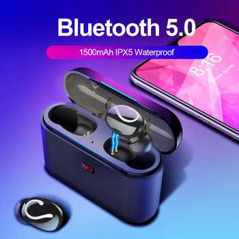 Bluetooth 5.0 TWS słuchawki Bluetooth słuchawki bezprzewodowe do telefonu zestaw głośnomówiący słuchawki sportowe Ture bezprzewodowe słuchawki stereo HBQ-32 - DISCOUNT ITEM  50 OFF All Category