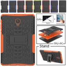 TPU+PC Case For Samsung Galaxy Tab A 10.5 T595 SM-T590 T597 Tab A T595 10.5 Heavy Duty 2 in 1 Hybrid Rugged Case Capa + Film Pen