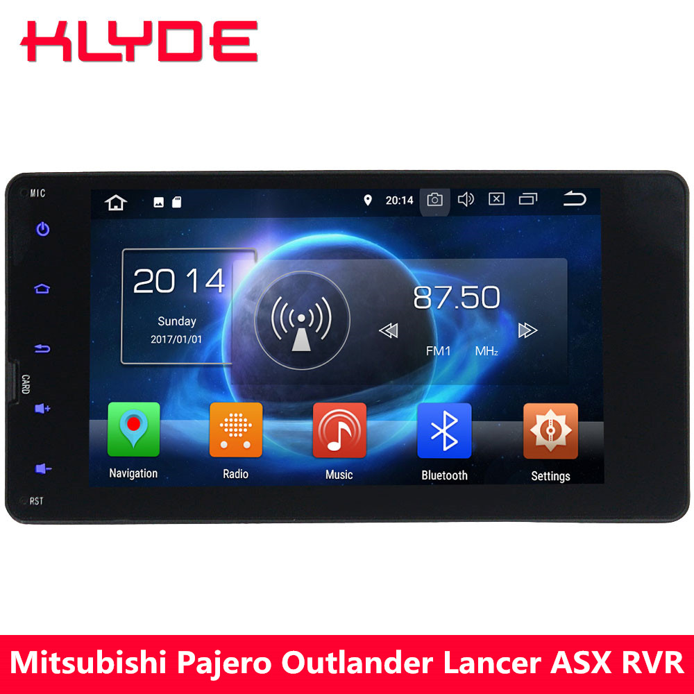 KLYDE 7 4G Octa Core Android 8.0 7.1 6 4GB+32GB Car DVD Multimedia Player Radio For Mitsubishi Outlander Lancer ASX RVR Pajero car tempered glass screen dvd gps lcd guard stereo multimedia protective film sticker for mitsubishi asx outlander lancer pajero