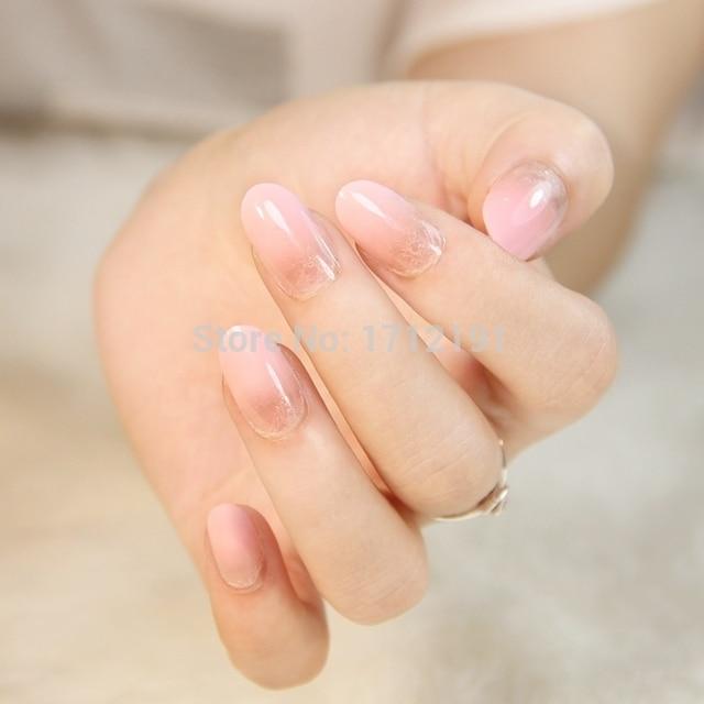 Natural french newair OL false nails press on nails faux ongles ...