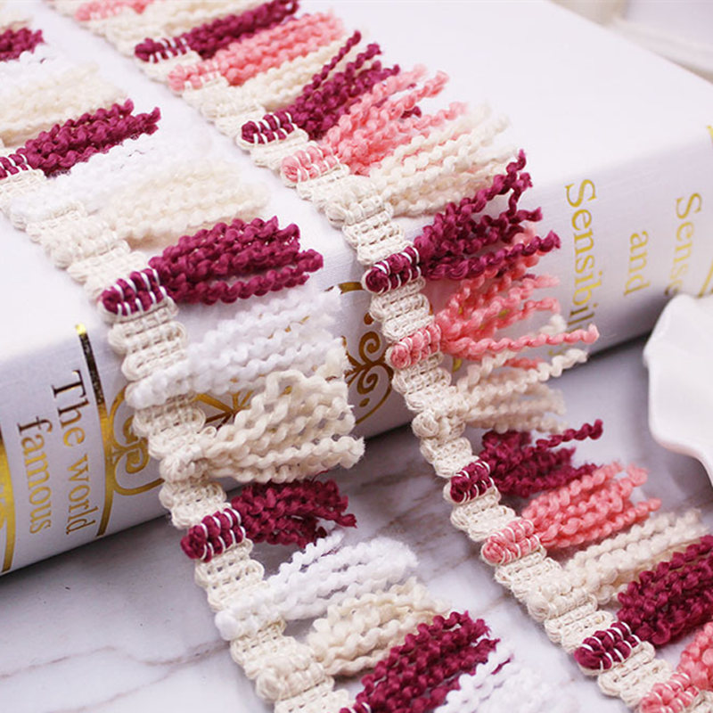 50Yards Width 4cm Ethnic Style Cotton Tassel Lace Dangling Fringe Lace Trims For DIY Sewing ribbon Craft woven Accessories