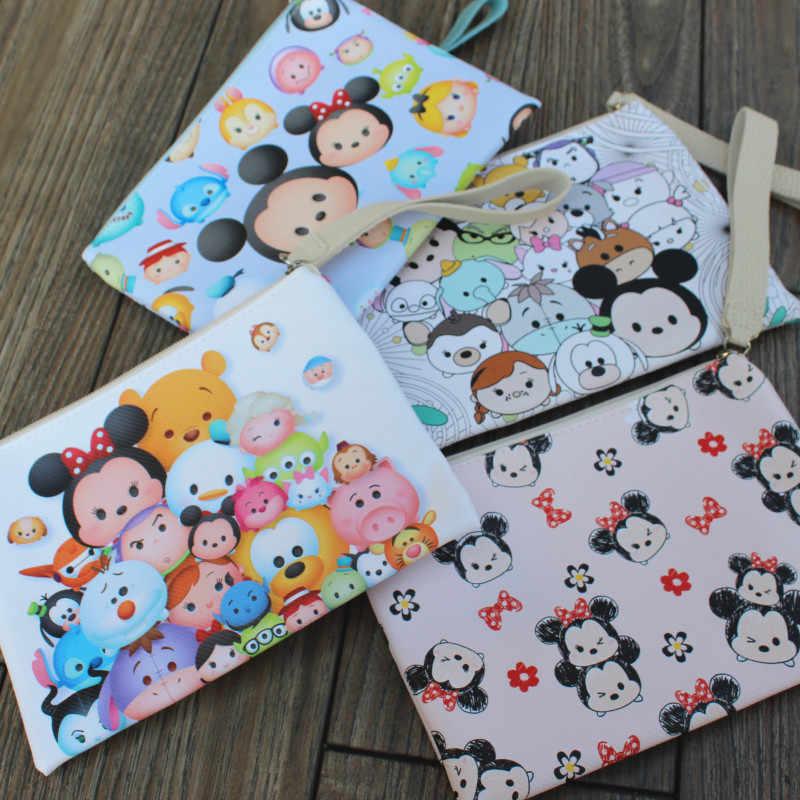 Disney Minnie Kanvas Portabel Pena Pensil Kartun Tas Penyimpanan Mickey Membuat Kasus Kanvas Anak Laki-laki dan Anak-anak Pelajar Hadiah Makeup