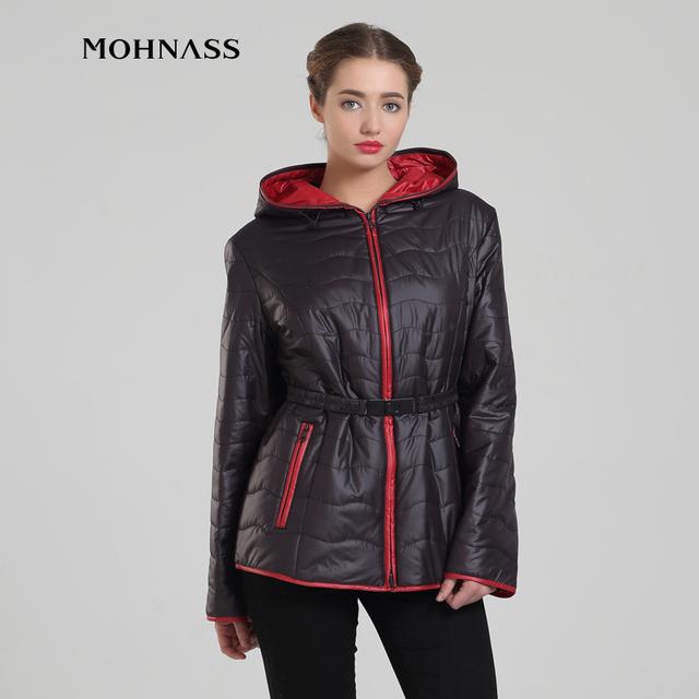 MOHNASS 2016 novo estilo de mulheres plus size de algodão acolchoado jaqueta de moda primavera outono casaco quente 15C7415-1