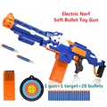 Eléctrica bala suave pistola de juguete nerf rifle de francotirador juguete de plástico metralleta de juguete pistola para niños chicos Mejor que envía libremente gratis