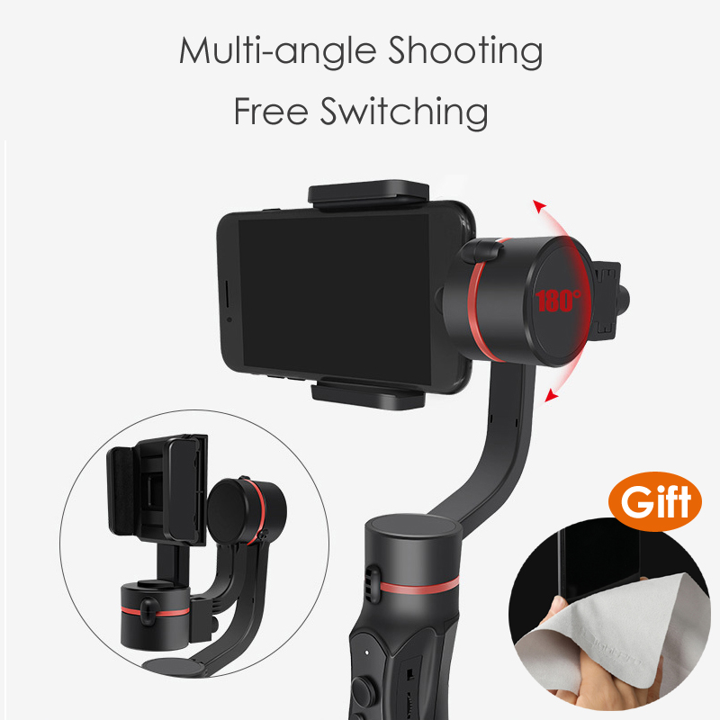 H2 3-Axis Handheld Gimbal Smartphone Stabilizer Steadicam for iPhone X 8 Plus 8 7 Plus 7 6S For Samsung for Gopro Action Camera feiyutech feiyu spg gimbal 3 axis splash proof handheld gimbal stabilizer for iphone x 8 7 6 plus smartphone gopro action camera