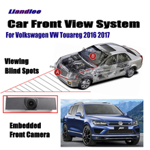 Liandlee Front View Camera Car LCD Screen Monitor 4.3 For Volkswagen VW Touareg 2016 2017 / Logo Embedded Cigarette Lighter