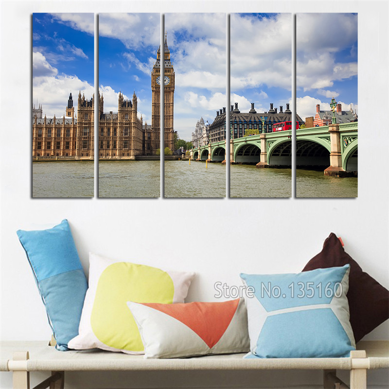 Large London Wall Art Fine Photo Canvas Painting Wall
