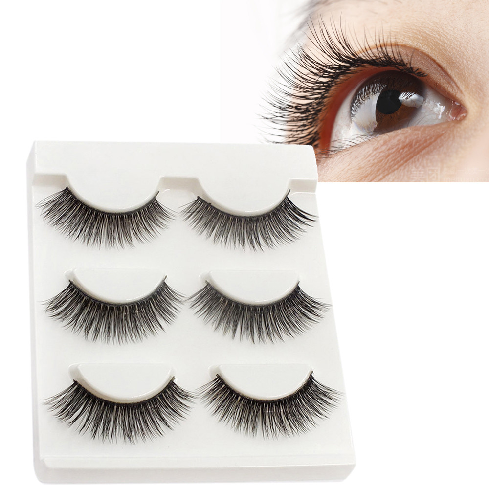Fashion Style Maange Faux Cils Natural Cilios Posticos 1 Pairs Thick Long Cross Party False Eyelashes Black Band Fake Eye A Extensions Tools Beauty Essentials