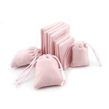 """กระเป๋าสตางค์ผ้าฝ้ายกำมะหยี่ของขวัญกระเป๋า 5x7 ซม. (1.9 """"x 2.7"""") 7x9 ซม. (2.7 """"x 3.5"""") Party Candy กระเป๋าแต่งหน้าเครื่องประดับบรรจุภัณฑ์โลโก้ที่กำหนดเอง"""