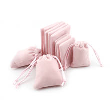 """Pamuk büzme ipi Kadife hediye çantası 5x7 cm (1.9 """"x 2.7"""") 7x9 cm (2.7 """"x 3.5"""") Parti Şeker Kılıfı Makyaj Takı Ambalaj Özel Logo"""