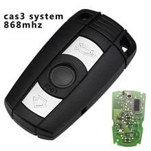 jingyuqin Remote Car Key 315/433/868MHZ For BMW 1 3 5 7 Series CAS3 System X5 X6 Z4 Smart Key Control Transmitter 3 Buttons whatskey 3 button remote control for bmw 315 434 315lp 868 mhz id46 1 3 5 6 7 series x5 x6 z4 e60 e82 e87 e90