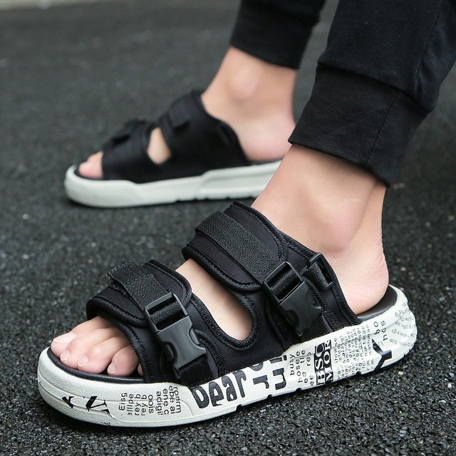 227ae9deb 15 style Mens Sandals Mesh Casual sandals Summer 2018 New Beach Men Casual  Shoes Outdoor Sandals 39-44