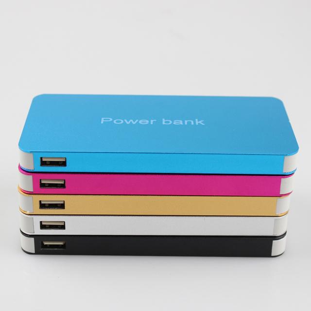 Novo estilo de super Ultrafino Power Bank 15000 mAh Carregador Portátil de Bateria Externa banco do poder para o iphone 6 6 s plus 5S samsung s6 s5