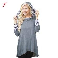 Women Long Sleeve Hoodie Sweatshirt Casual Loose Hooded Coat Pullover Autumn And Winter Fashion hoodies sweatshirt Female 2017