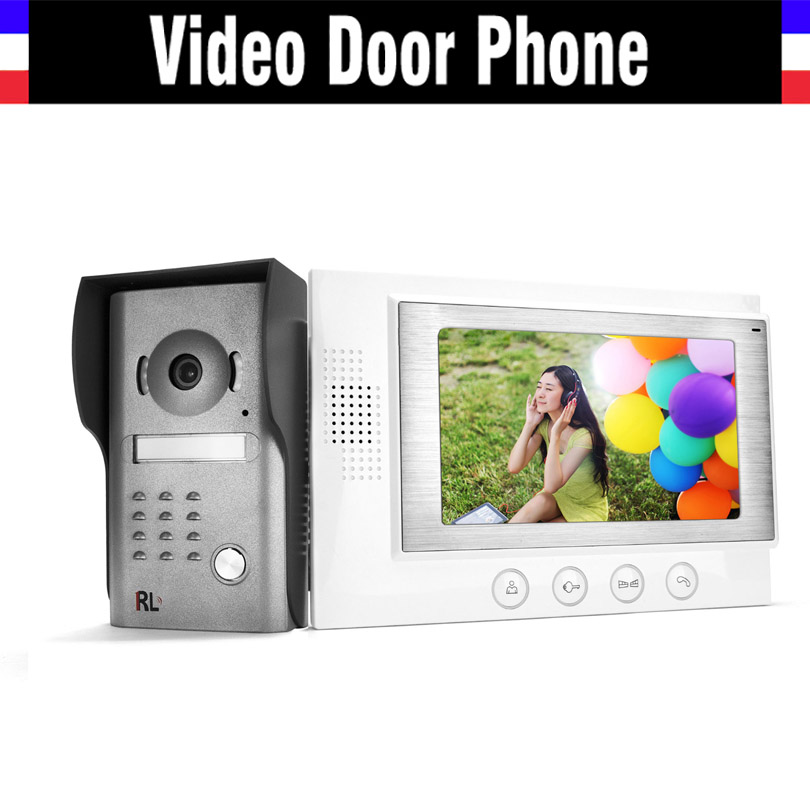 7 LCD Video Intercom Door Phone Doorbell System IR Night Vision Camera Video Intercom Doophone Home Security Kits 7 lcd monitor wired video intercom door phone doorbell door viewer ir night vision home security kits for villa home