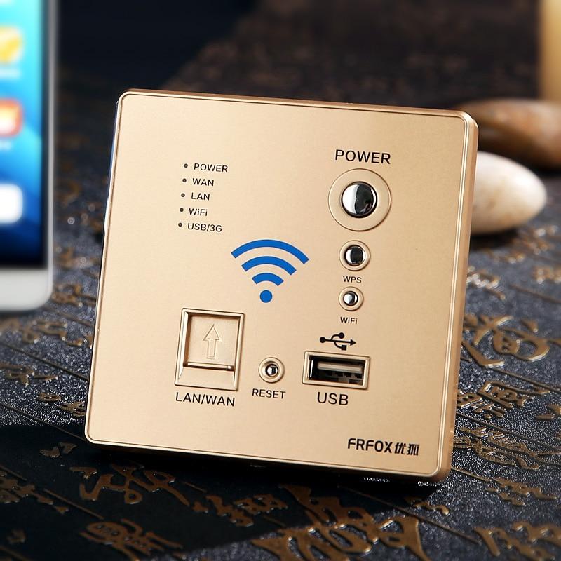 все цены на  Intelligent router 300M wall panel USB socket wireless WIFI AP signal strength and wear hotel wall  онлайн