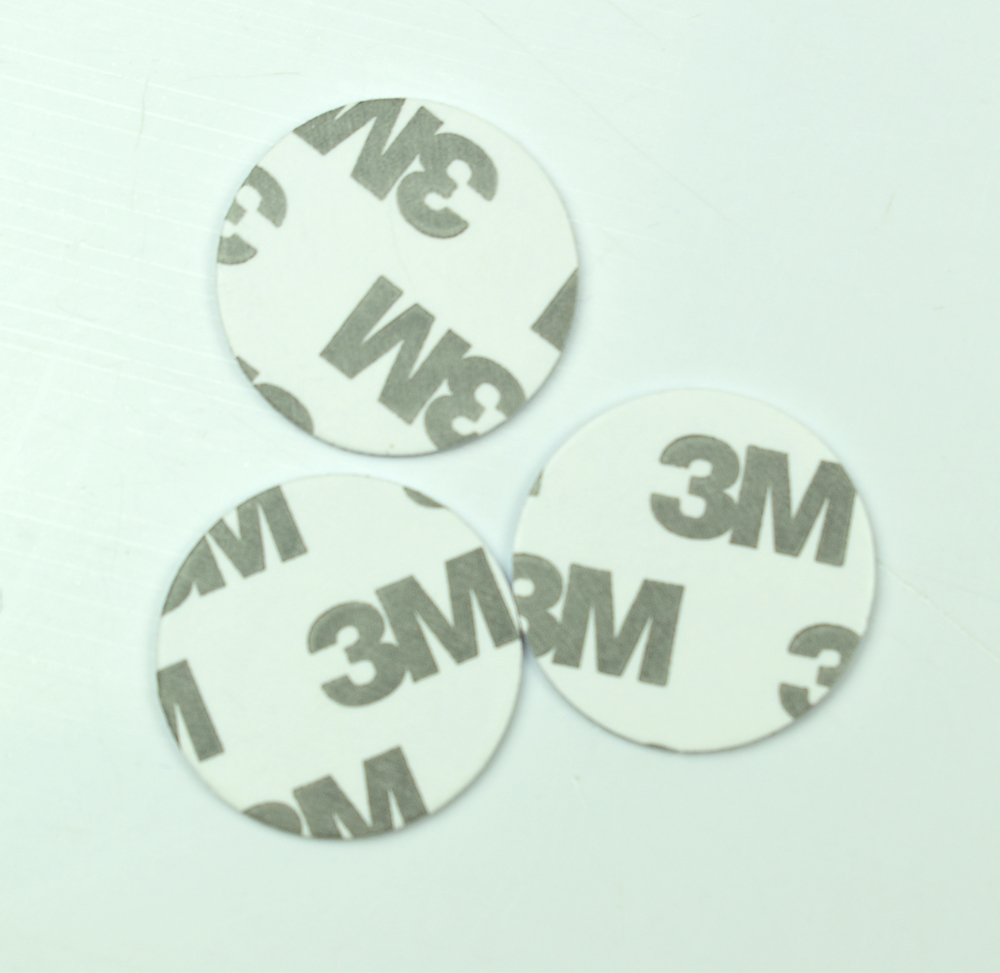 1000pcs 125KHZ TK4100 EM4100 RFID Coin ID Card With 3M Adhensive Sticker Read Only Diameter 25mm for Access Control 1000pcs silicone em wristband read only waterproof rfid bracelet for spa fitness sauna access control