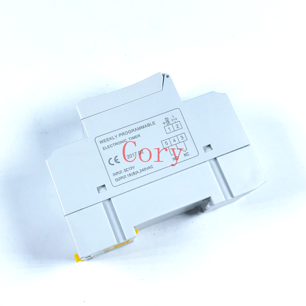 1PCS DIN RAIL DIGITAL PROGRAMMABLE 12v/24v/110V/220V TIMER SWITCH 16A TP8A16
