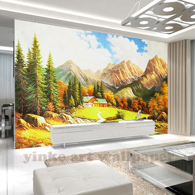 Custom landscape painting Photo Wallpapers Living Room 3D Wallpaper ...