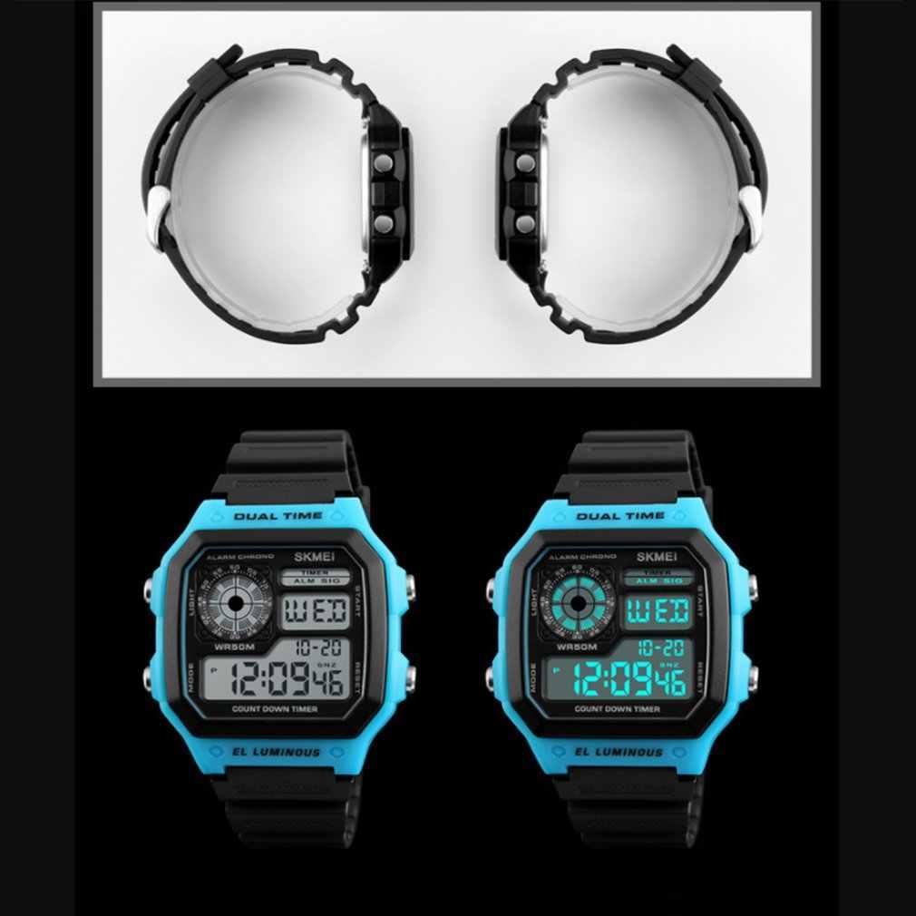 Skmei esportes topo relógio das mulheres display eletrônico relógio de esportes ao ar livre estudante à prova dwaterproof água relógio luminoso relogio relógios