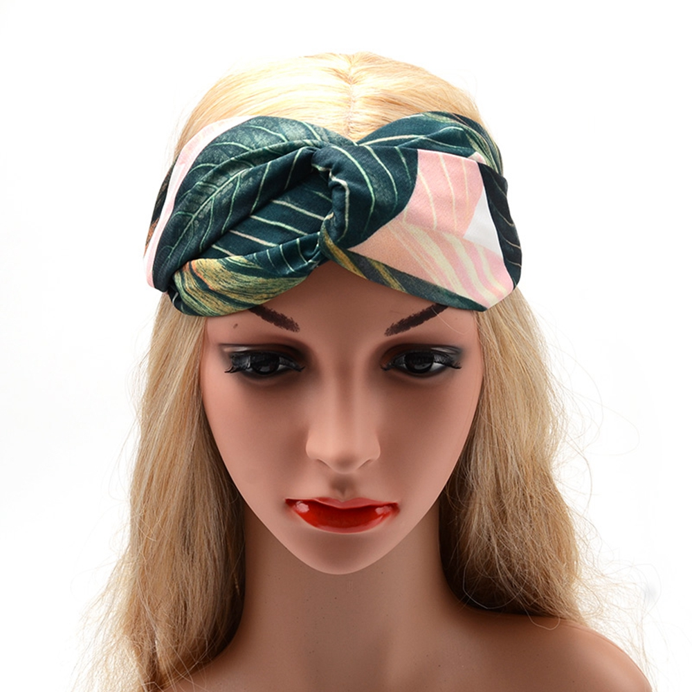Okdeals New Fashion Vintage Green Banana Leaf Flamingo Hairbands