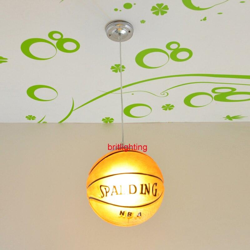 Lampes suspendues de basket lampes suspendues de chambre d'enfant lampe suspendue de chambre d'enfant LED chinois lampe pendante de boule de verre basket-ball