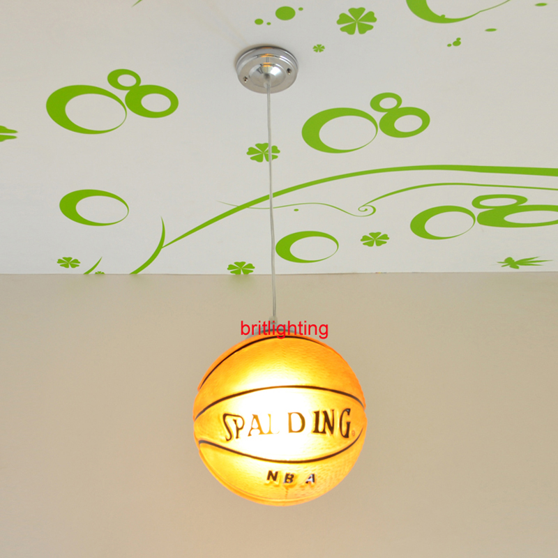 basketball pendant lights kid's room pendant lamps Children's room hanging lamp China Led glass ball pendant lamp Basketball hghomeart kids led pendant lights basketball academy lights cartoon children s room bedroom lamps lighting
