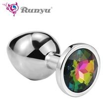 4840b4850 Runyu Intimate Metal Anal Plug With Crystal Jewelry Smooth Butt Plug No  Vibrator Anal Bead Anus Dilator Anal Toys for Men Women