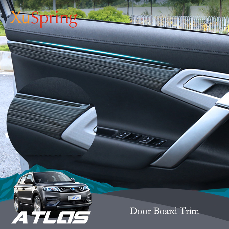 For <font><b>Geely</b></font> <font><b>Atlas</b></font> <font><b>Boyue</b></font> Emgrand NL-3 Proton X70 2016-2019 Car Interior Door Handle Panel Board Cover Trim Garnish Strips Stickers image