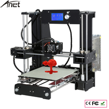 10 М Нити 16 ГБ SDCard Инструмент С Алюминиевым Очагом Anet A6 3D Комплект Принтера Reprap Prusa i3 DIY Size220 * 220*250 мм 3D Принтер комплект