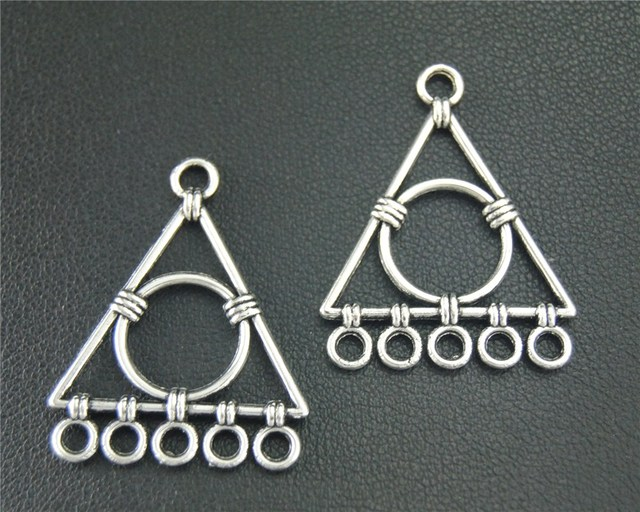 40pcs antique sliver chandelier charm triangle pendant diy 40pcs antique sliver chandelier charm triangle pendant diy necklace earrings findings 31x25mm a1876 mozeypictures Gallery