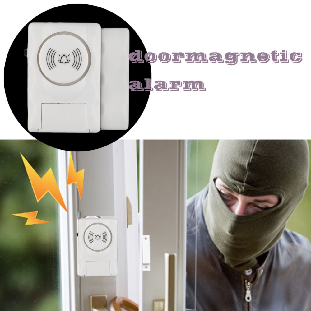 Darho Security 2Pcs110dB Wireless Window Door Burglar Security Alarm System Magnetic Sensor For Home Store Shop Security System 7