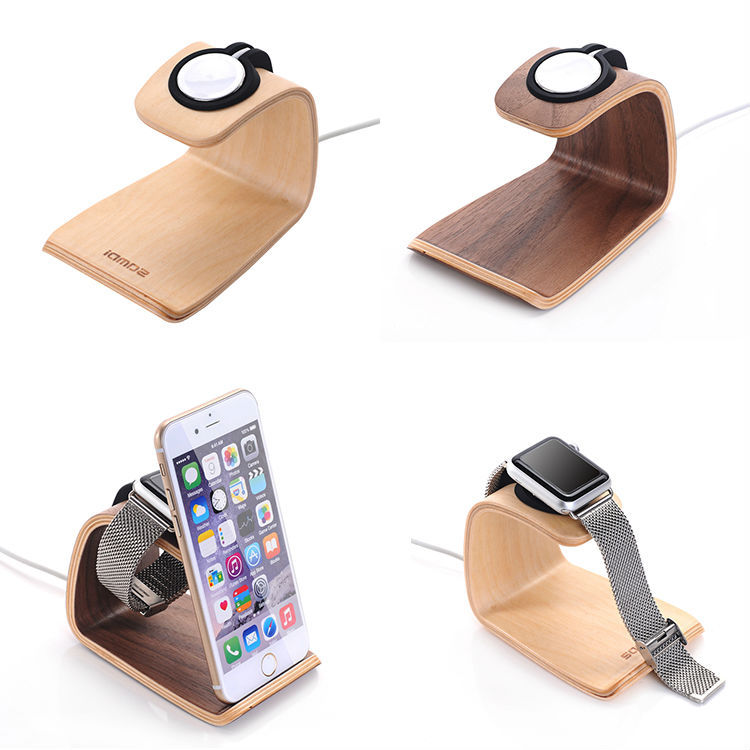 URVOI holder for apple watch stand display smart home charging stand repair walnut holder keeper charging dock White Birch stand