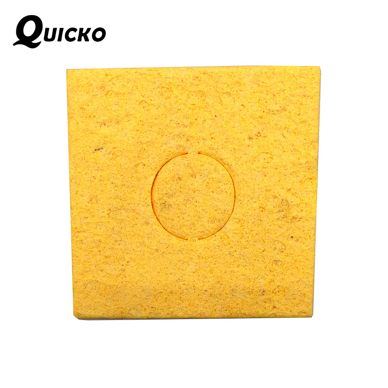 20pcs/lot Soldering Iron Tip Welding Cleaning Sponge Pads /High Temperature Resistant Clean Tool/yellow Size 6cm*6cm Thicken