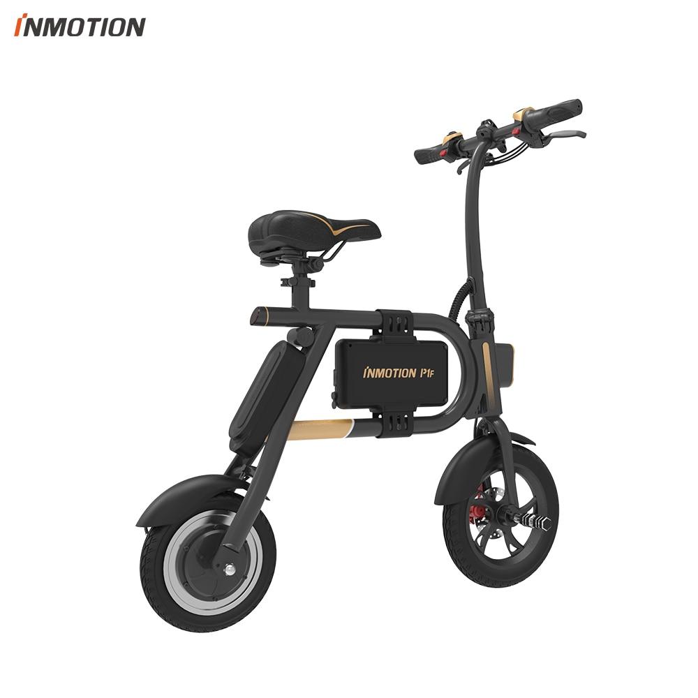 INMOTION E BIKE P1F складной электрический скутер мини стиль IP54 приложение поддерживается 30 км/ч Электронный велосипед - 5