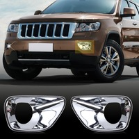 New Chrome Front Fog Lamp Light Cover Trim For Jeep Grand Cherokee 2011 2013 HCA02138