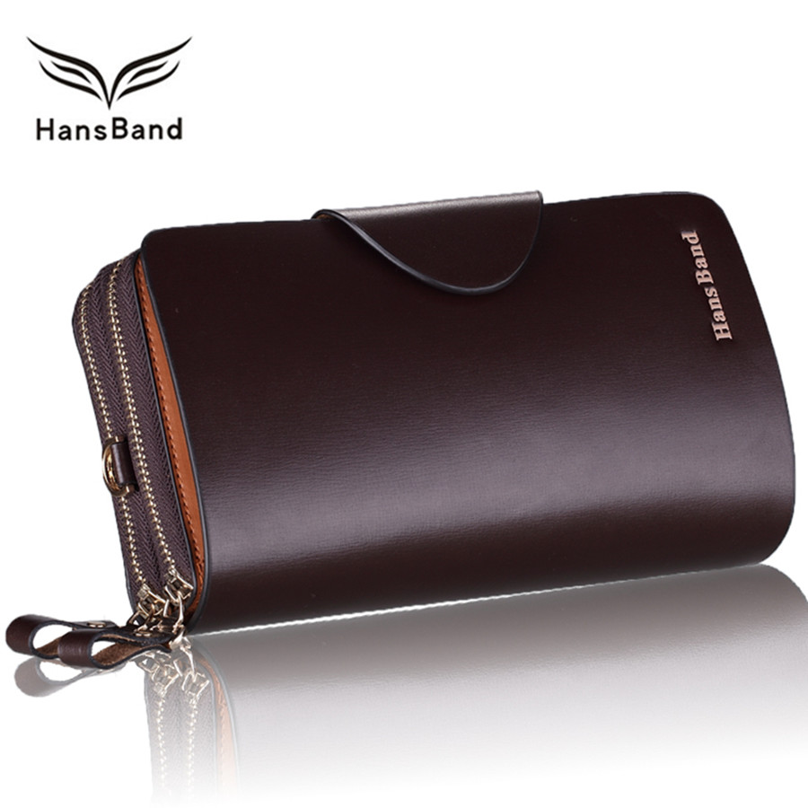 Luxury Brand Wallet Genuine Leather Men Clutch Wallets Big Capacity Fashion Cowhide Men Wallet Phone Bag Business Male Purse