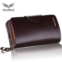 Luxury Brand Wallet Genuine Leather Men Clutch Wallets Big Capacity Fashion Cowhide Men Wallet Phone Bag Business Male Purse