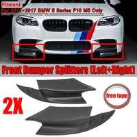 1 Pair Real Carbon Fiber / Resign F10 M5 Car Front Bumper Splitters Lip Body Kit Spolier For BMW 5 Series F10 M5 2011 2017
