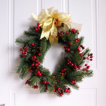 New custom-made Christmas decorations with pine wreaths and 38cm door and wall decorations  Free Shipping