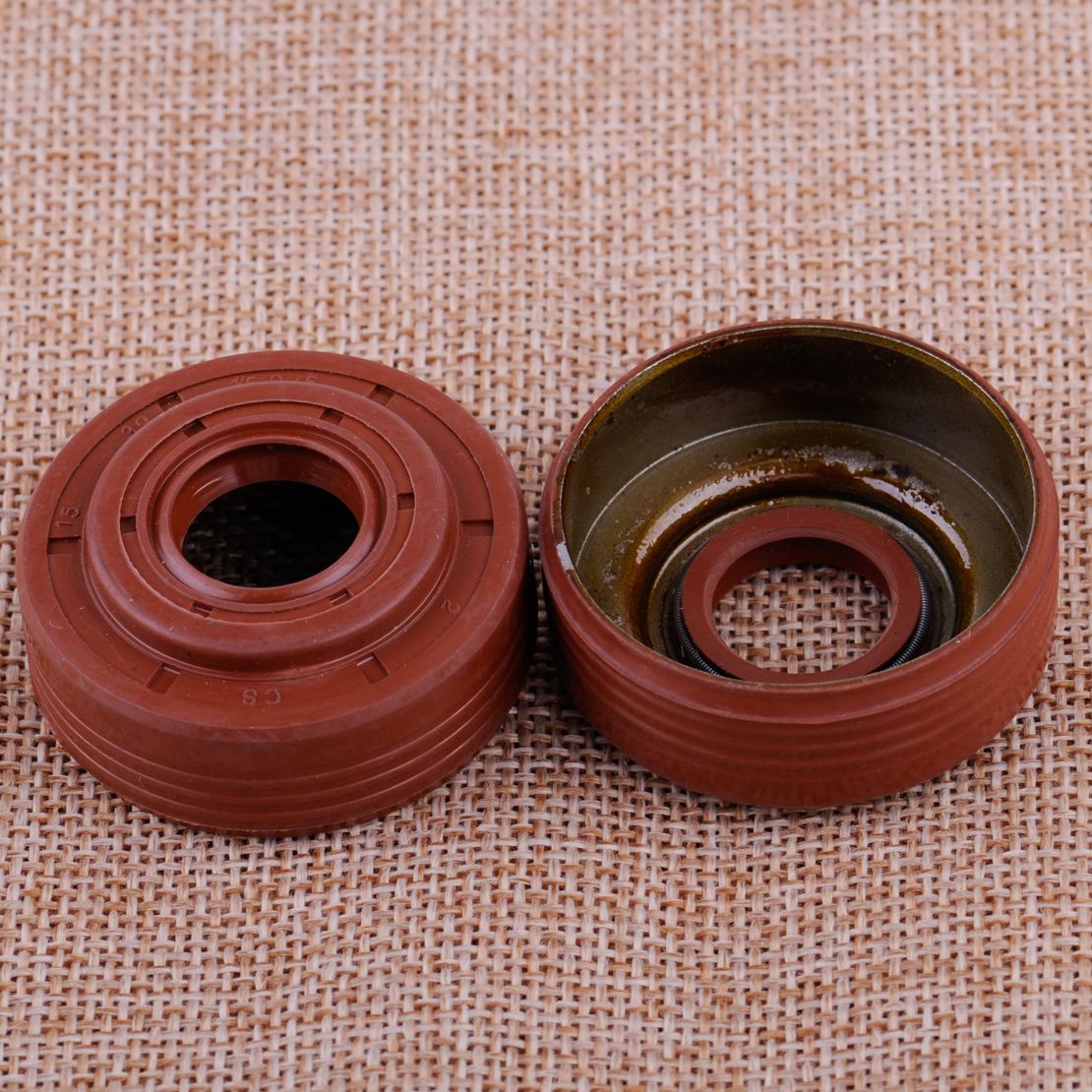 LETAOSK New 2pcs Oil Seal Set Fit For HUSQVARNA 340 345 346XP 350 Chainsaw 503 93 23 02